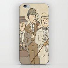 The Detectives - Miss Marple, Sherlock Holmes, Hercule Poirot iPhone & iPod Skin