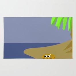 The sunny beach Rug