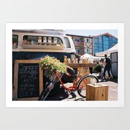 Coffee in a Van Art Print