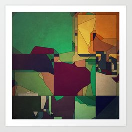 Patchwork of Color Art Print