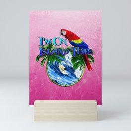 Pink Island Time Surfing Mini Art Print