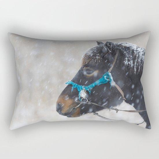 Winter Horse II Rectangular Pillow