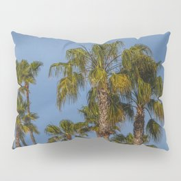 Palm Trees on Laguna Beach in California Pillow Sham
