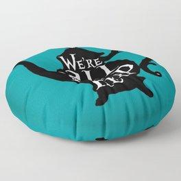 """We're all MAD here"" - Alice in Wonderland - Teapot - 'Alice Blue' Floor Pillow"