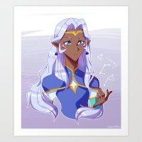 Voltron Legendary Defender - Allura Art Print