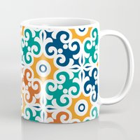 spanish Mugs featuring Spanish tile by Tassara