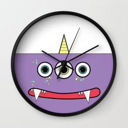 Purple Monster Wall Clock