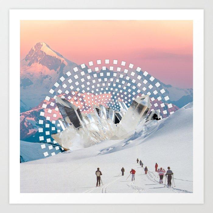 Crystal Energy Art Print