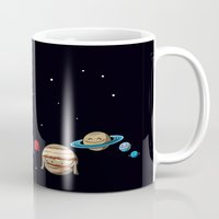 planets Mugs featuring Planets by awkwardyeti