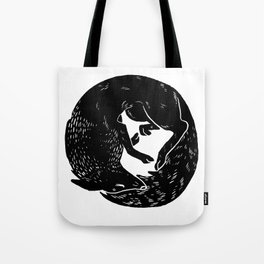 black and white thoughts Tote Bag