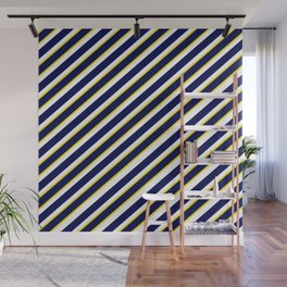 TEAM COLORS 1…Navy , yellow , white Wall Mural