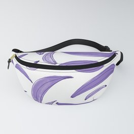 Watercolor bananas - purple Fanny Pack