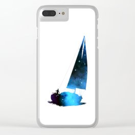 Cosmic Sailing (Silhouette) Clear iPhone Case