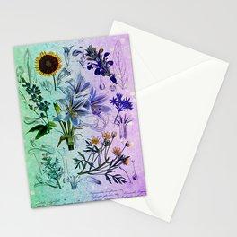 Botanical Study #2, Vintage Botanical Illustration Collage Art Stationery Cards