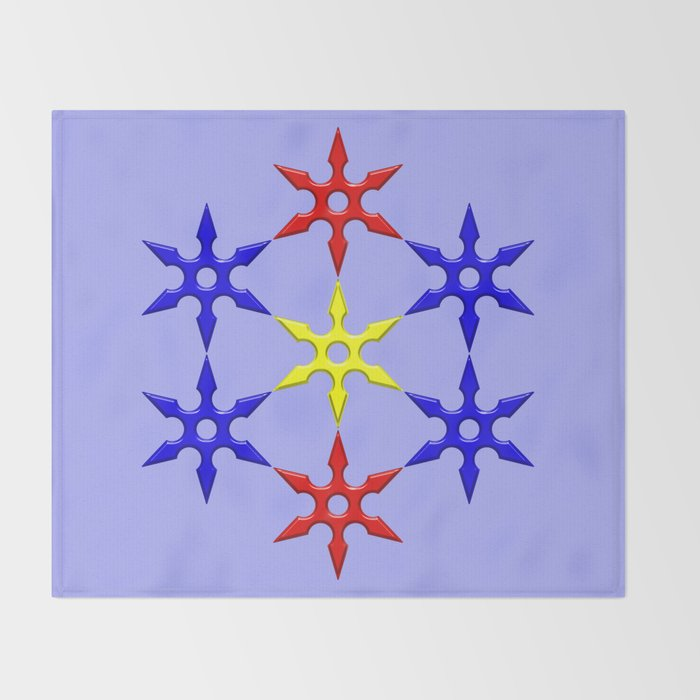 Shuriken Design Throw Blanket