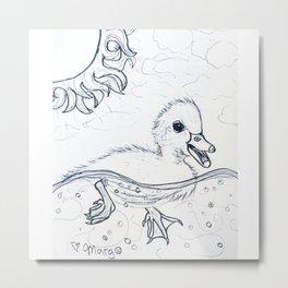 Delightful Duckling Metal Print
