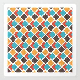 Geometric art deco Art Print