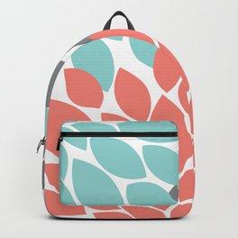 petals blue grey coral Backpack