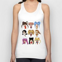 anime Tank Tops featuring Anime Pigtails by artwaste
