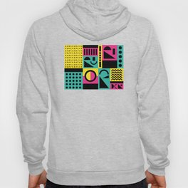 Neo Memphis Pattern 2 - Abstract Geometric / 80s-90s Retro Hoody