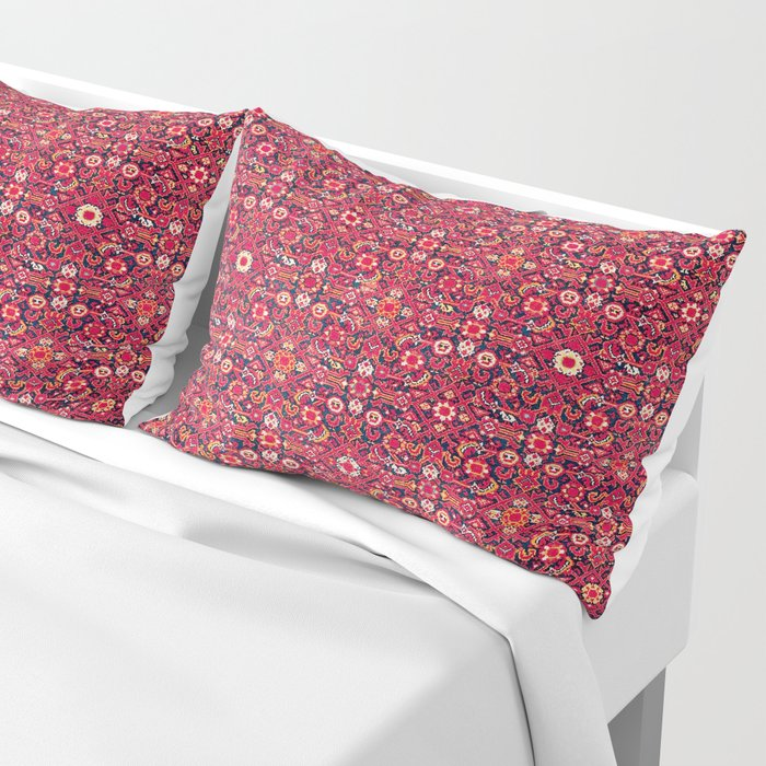 Malayer West Persian Rug Print Pillow Sham