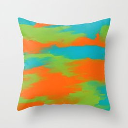 Colorful intense mixed Throw Pillow