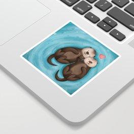 Otters in Love Sticker