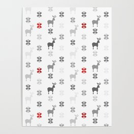 Winter themed pattern design Poster