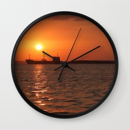 Sunset in Cuba Wall Clock