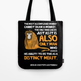 Clever Monkey Tote Bag
