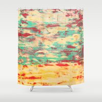 wooden Shower Curtains featuring Wooden Pattern by Patterns and Textures