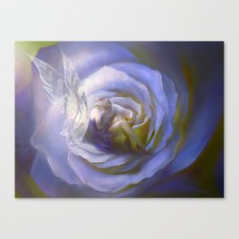 Fairy tale fantasy - purple rose Canvas Print