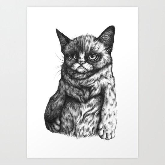 Tard the Grumpy Cat Art Print