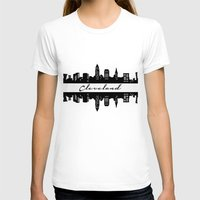 cleveland T-shirts featuring Cleveland Skyline by Madison Asher