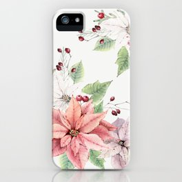 Poinsettia 2 iPhone Case