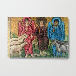 Judgement Day of the Sheep and the Goats Mosiac Basilica of Saint Apollinare Nuovo, Ravenna, Italy Metal Print