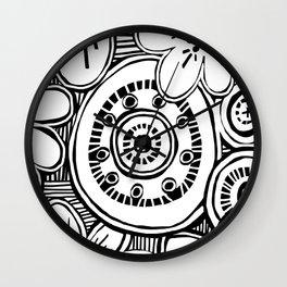 boho garden Wall Clock