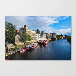 York City Guildhall and river Ouse Canvas Print