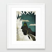 edward scissorhands Framed Art Prints featuring Edward Scissorhands by Fontolia (Katie Blaker)
