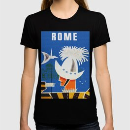 Retro Rome Italy Travel Poster T-shirt