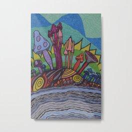Mad for Mushrooms Metal Print