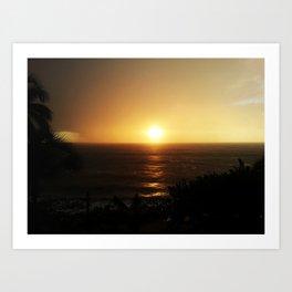 Sunset @ Rincon, Puerto Rico 2 Art Print