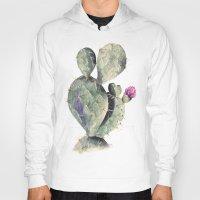 cactus Hoodies featuring CACTUS by Annet Weelink Design
