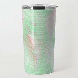 Coral Mint Abstract Travel Mug