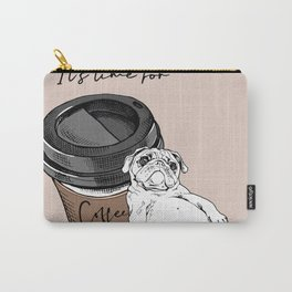 Big Plastic Cup Coffee Resting Cute Carry-All Pouch
