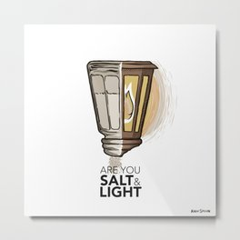 #2 Salt and Light Metal Print