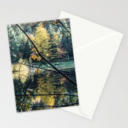 French lake in autumn Stationery Cards