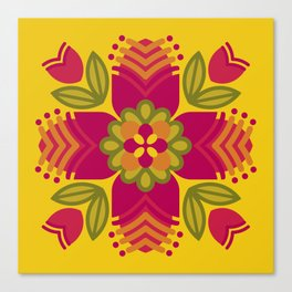 Graphic Floral Mandala [1] Canvas Print