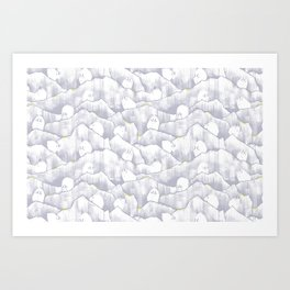 Mountain Goats on Mountains Art Print