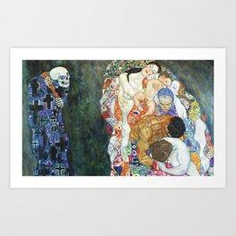 Gustav Klimt Death And Life Art Print